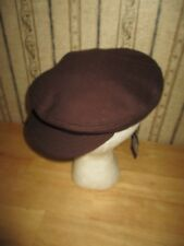 NWT brown COAL HEADWEAR / THE MCNEIL newsboy - driving style hat / SIZE MED