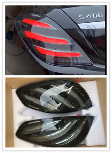 W222 Facelift Tail Lights Lamp Set for Mercedes Benz S class Dynamic LED Smoke