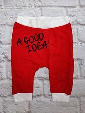 Mignolo Unisex Baby A Good Idea Pants 6 Months Red White 100% Cotton