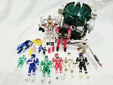 Mighty Morphin Power Rangers Lot Tor the Shuttlezord Tigerzord Falconzord Used