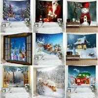 Christmas Santa Claus Tapestry Room Wall Hanging Tapestries Decor Snow Xmas Gift