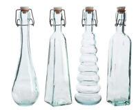 4 Glasflaschen Likör Flaschen Leere 500ml Alte Likörflaschen Klar Bügelverschluß
