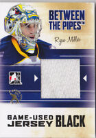 10-11 ITG Ryan Miller 1/1 Jersey Between The Pipes Spring Expo Sabres 2010