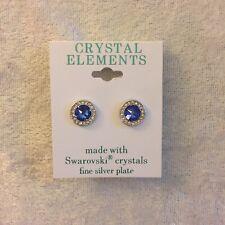 Crystallite Sapphire Large Stud 8mm