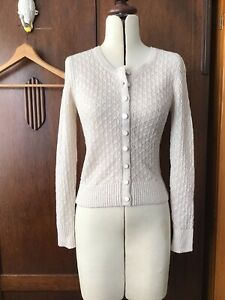 Alannah Hill Beige Knitted Cardigan Womens Size 10