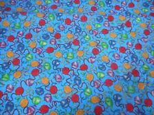 BALLS OF WOOL (KRAFTY KITTIES)~ Quilting Fabric ~ 100% COTTON (New) 50 x 110 cms
