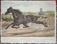 CURRIER & IVES Trotting Stallion France's Alexander Ben Patchen HORSE RACING