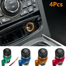 12V Car Motorcycle Waterproof Cigarette Lighter Power Socket Plug Outlet 4Colors