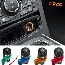 12V Car Motorcycle Waterproof Cigarette Lighter Power Socket Plug Outlet 4Colors