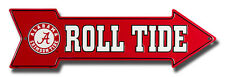 ALABAMA CRIMSON TIDE ROLL TIDE EMBOSSED METAL ARROW SIGN  MAN CAVE SPORTSROOM