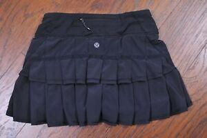 Lululemon Run: Pace Setter Skirt Black Women's 2