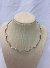 Beautiful sterling Silver 925  Modernist Wave Collar Necklace