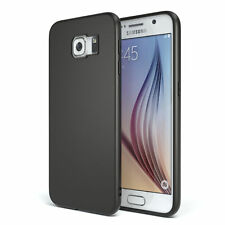 Slim Cover für Samsung Galaxy S6 TPU Softcase Silikon Hülle Schwarz