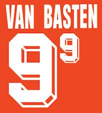 Holland Van Basten Nameset 1992 Shirt Soccer Number Letter Heat Print Football H