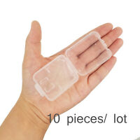Lot 10 Plastic Case For SD card MicroSD memory card SanDisk Kingston Transcend