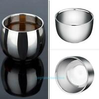 Double Wall Stainless Steel Cup Heat Insulation Coffee Tea Mug Bowl Tumbler New