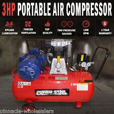 NEW Belt Driven 3 horse power 12CFM Air Compressor Portable 300L/min 80Lt Tank