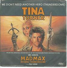 A4 / 45 TOURS  2 TITRES / TINA TURNER   BOF  FILM  MADMAX
