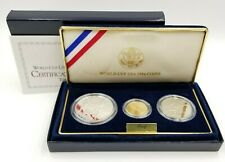 Us Mint World Cup Usa 1994 Commemorative Three Coin Proof Set With Coa