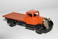 1940's Dinky #25c, Flatbed Truck, Orange & Black, Original