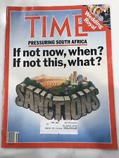 Time Magazine Pressuring South Africa Rolex Ad August 4 1986 Royal Wedding