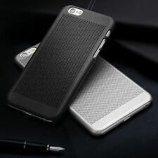 ULTRA SLIM PREMIUM BLACK MESH GOMMA IN PLASTICA RIGIDA Back Case Cover per iPhone 6