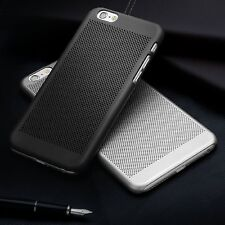 Ultra Slim Premium Black Mesh Rubber Hard Plastic Back Case Cover For iPhone 6
