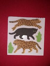 🦁Sandylion 1 Abriss Panther Gepard Stoff Fuzzy Scrapbooking Sticker selten🦁