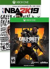 Call of Duty: Black Ops 4 Xbox One + NBA 2k19 Digital Game  NEW