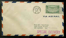 C21 20c TRANS-PACIFIC FDC WASHINGTON, DC FIRST DAY COVER SENT SPECIAL DELIVERY