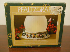 pfaltzgraff winterberry glass dome resin base candle holder tealight christmas
