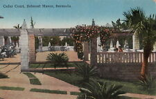 Postcard Cedar Court Belmont Manor Bermuda + Stamp