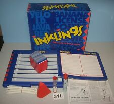 1993 Mattel Game Inklings Party Game of Little Hints Team or Family Play