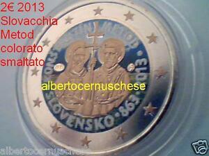 2 euro 2013 SLOVACCHIA fdc smaltato colorato Slovaquie Konstantin Metod Moravia