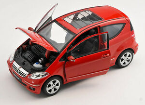 BLITZ VERSAND Mercedes Benz A200 A-Class  rot / red Welly Modell Auto 1:24 NEU
