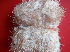 Mill End Assortment Fashion Plus bulky fuzzy yarn, camel, lot of 2