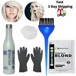 DIY Premium Hair Bleach Dye Color Lightening Powder Kit - 20/40 Volume Developer