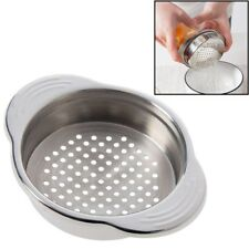Stainless Steel Food Can Strainer Sieve Tuna Press Lid Oil Drainer Remover, K4F2