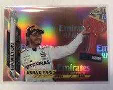 New listing 2020 Topps Chrome Formula 1 Grand Prix Winners 137 Lewis Hamilton Refractor
