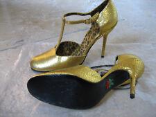 """FREE LANCE Chaussures"""" Salomé"""" cuir doré P:40 valeur:390€"""