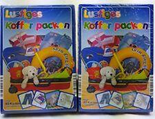 4x Lustiges Koffer Packen Inhalt 40 Karten 2-6 Spieler 5-10 Jahre