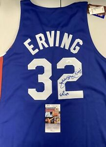 Julius Erving Signed Jersey #32 Autographed HOF' Authentic JSA