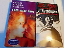 2 Stanley Kubrick Masterpieces Eyes Wide Shut 1999 & Dr. Strangelove 1964 Vhs