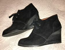 LUCKY BRAND WEDGE ANKLE BOOTS SIZE 9
