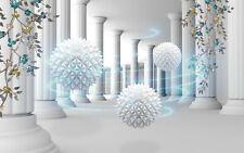 VLIES Fototapete-ABSTRAKT DESIGN-(2107V)-3D Kugeln Perle Ziegel Diamanten Luxus
