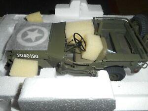 Danbury Mint 1940's Willys WW2 U.S. ARMY Military Jeep Olive Drab 1:16 Diecast