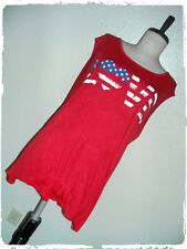 New listing Free Kisses Red Love Flag Screened Patriotic 4th Of July Tank Top 2X