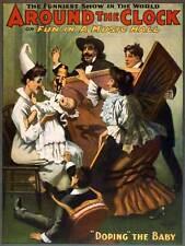 STADIO COMMEDIA intorno Orologio Baby Music Hall farsa USA VINTAGE POSTER 929py