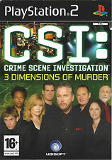 CSI CRIME SCENE INVESTIGATION - 3 DIMENSIONS OF MURDER for Playstation 2 PS2