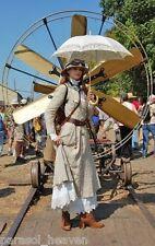 Curved Handle Ecru Ivory Battenburg Lace Parasol, Victorian Sun Umbrella, New